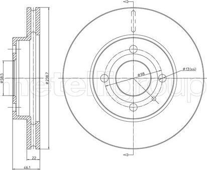Cifam 800-202 - Bremžu diski autodraugiem.lv