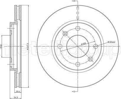 Cifam 800-238 - Bremžu diski autodraugiem.lv