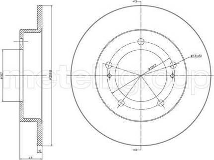 Cifam 800-221 - Bremžu diski autodraugiem.lv