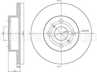 Cifam 800-222 - Bremžu diski autodraugiem.lv