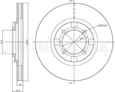 Cifam 800-272 - Bremžu diski autodraugiem.lv