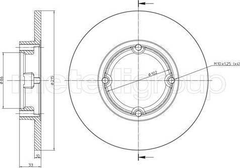 Cifam 800-756 - Bremžu diski autodraugiem.lv