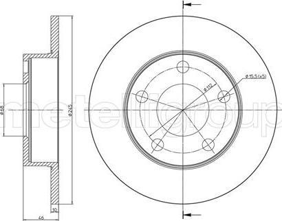 Cifam 800-708C - Bremžu diski autodraugiem.lv