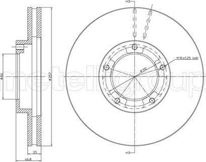 Cifam 800-716 - Bremžu diski autodraugiem.lv