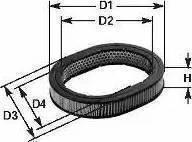 Clean Filters MA 154 - Gaisa filtrs autodraugiem.lv