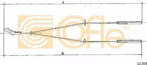 Cofle 12.504 - Sildītāja vārsta trose autodraugiem.lv