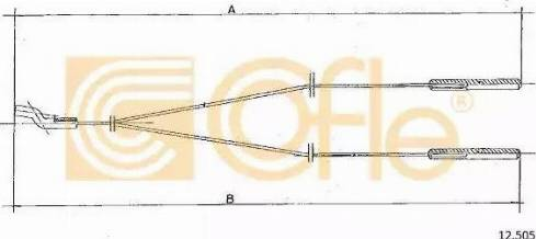 Cofle 12.505 - Sildītāja vārsta trose autodraugiem.lv