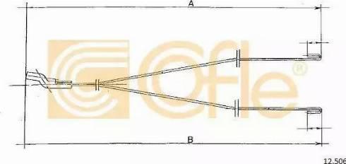 Cofle 12.506 - Sildītāja vārsta trose autodraugiem.lv