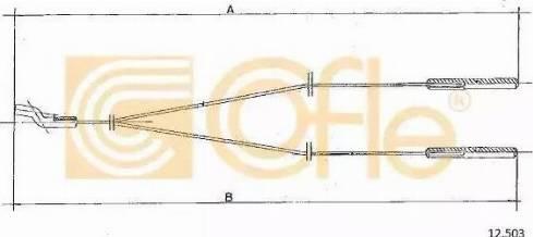 Cofle 12.503 - Sildītāja vārsta trose autodraugiem.lv