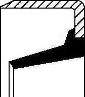 Corteco 01020437B - Vārpstas blīvgredzens, Izspiedējgultņa vārpsta autodraugiem.lv