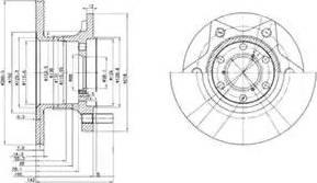 Delphi BG302 - Bremžu diski autodraugiem.lv