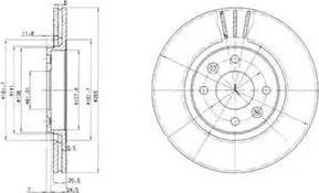 Delphi BG2448 - Bremžu diski autodraugiem.lv