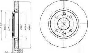 Delphi BG2403 - Bremžu diski autodraugiem.lv