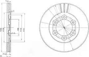 Delphi BG2416 - Bremžu diski autodraugiem.lv