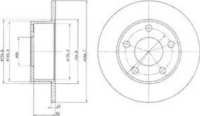 Delphi BG2410 - Bremžu diski autodraugiem.lv