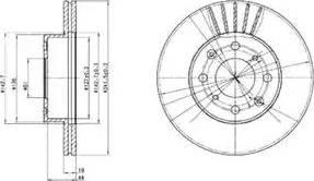 Delphi BG2488 - Bremžu diski autodraugiem.lv