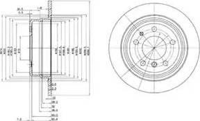 Delphi BG2437 - Bremžu diski autodraugiem.lv