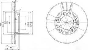 Delphi BG2423 - Bremžu diski autodraugiem.lv