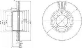 Delphi BG2507 - Bremžu diski autodraugiem.lv