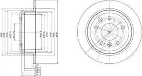 Delphi BG2515 - Bremžu diski autodraugiem.lv