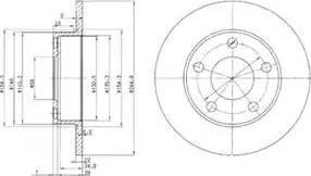Delphi BG2520 - Bremžu diski autodraugiem.lv