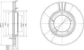 Delphi BG2692 - Bremžu diski autodraugiem.lv