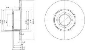 Delphi BG2069 - Bremžu diski autodraugiem.lv