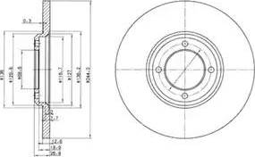 Delphi BG2061 - Bremžu diski autodraugiem.lv