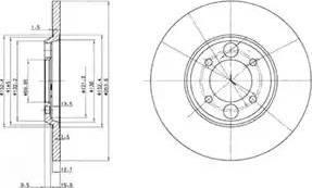 Delphi BG2084 - Bremžu diski autodraugiem.lv