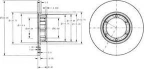 Delphi BG2071 - Bremžu diski autodraugiem.lv