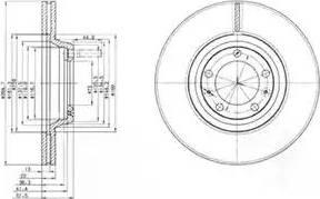 Delphi BG2199 - Bremžu diski autodraugiem.lv