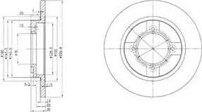 Delphi BG2153 - Bremžu diski autodraugiem.lv