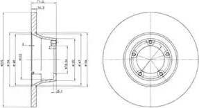 Delphi BG2157 - Bremžu diski autodraugiem.lv
