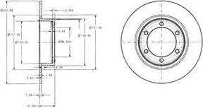 Delphi BG2107 - Bremžu diski autodraugiem.lv