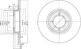 Delphi BG2114 - Bremžu diski autodraugiem.lv