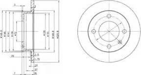 Delphi BG2118 - Bremžu diski autodraugiem.lv