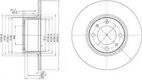 Delphi BG2176 - Bremžu diski autodraugiem.lv
