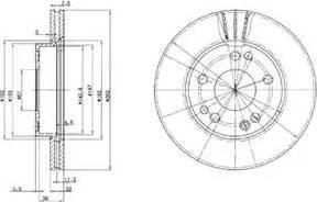 Delphi BG2397 - Bremžu diski autodraugiem.lv
