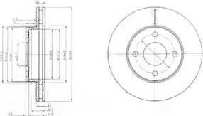 Delphi BG2350 - Bremžu diski autodraugiem.lv