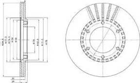 Delphi BG2365 - Bremžu diski autodraugiem.lv