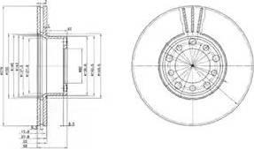 Delphi BG2306 - Bremžu diski autodraugiem.lv