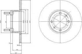 Delphi BG2316 - Bremžu diski autodraugiem.lv