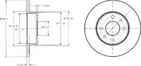 Delphi BG2313 - Bremžu diski autodraugiem.lv