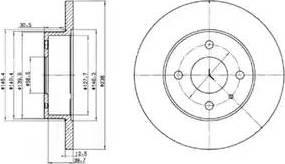 Delphi BG2312 - Bremžu diski autodraugiem.lv