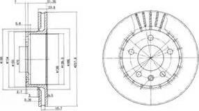 Delphi BG2384 - Bremžu diski autodraugiem.lv