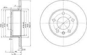 Delphi BG2380 - Bremžu diski autodraugiem.lv
