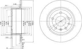 Delphi BG2381 - Bremžu diski autodraugiem.lv
