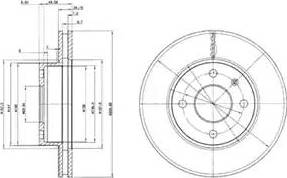 Delphi BG2339 - Bremžu diski autodraugiem.lv