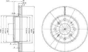 Delphi BG2336 - Bremžu diski autodraugiem.lv