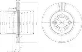 Delphi BG2333 - Bremžu diski autodraugiem.lv